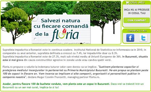 Cumpără un buchet de la Floria și ajuți la plantarea unui copac
