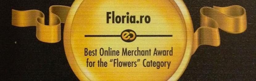 """Pentru a treia oara, suntem """"Cea mai buna florarie online"""" din Romania. Va multumim!"""