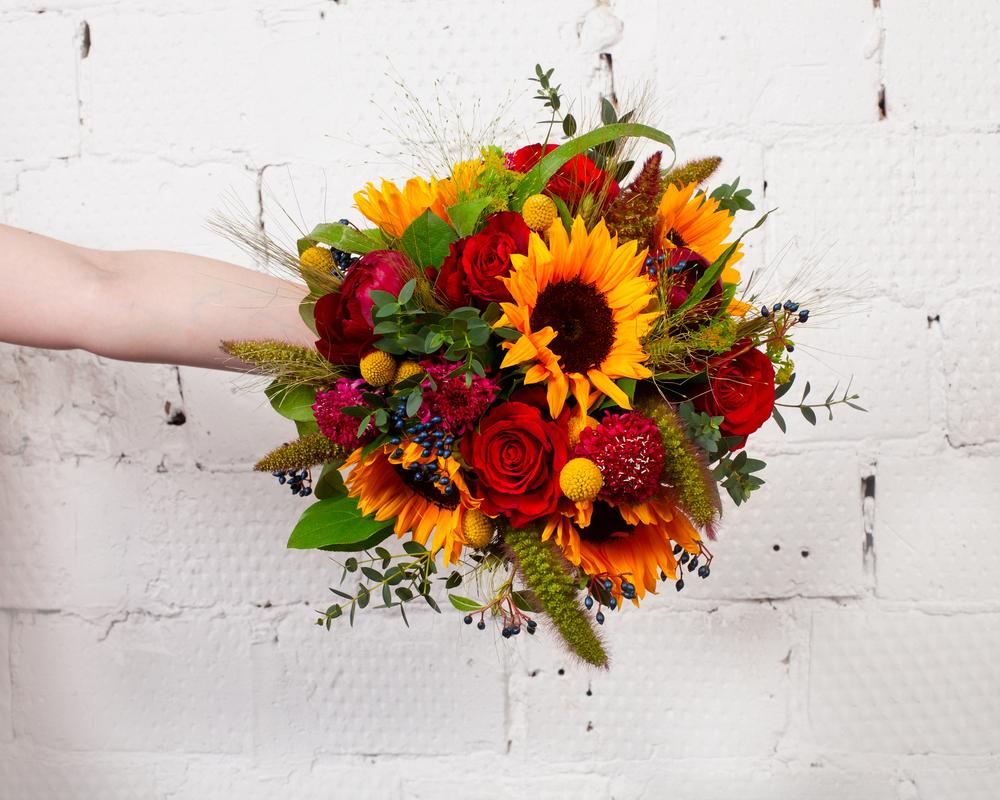 buchet cu floarea soarelui pentru aniversari