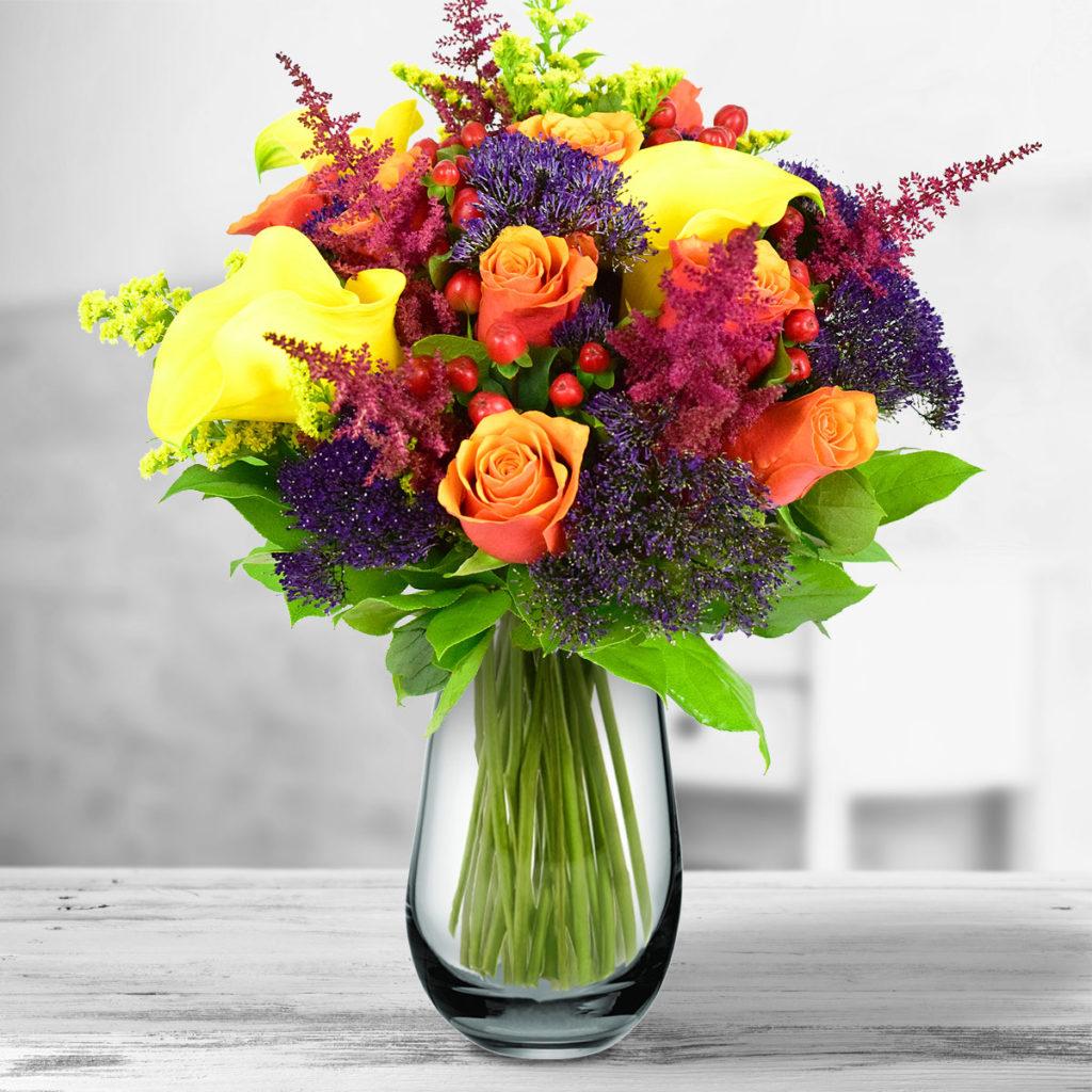 buchet de flori de toamna perfect