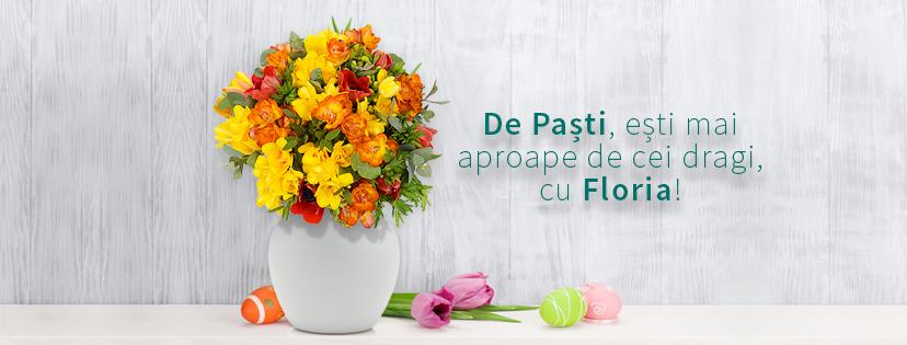 Cadouri de Paste pentru ea: buchete de flori cu suflet