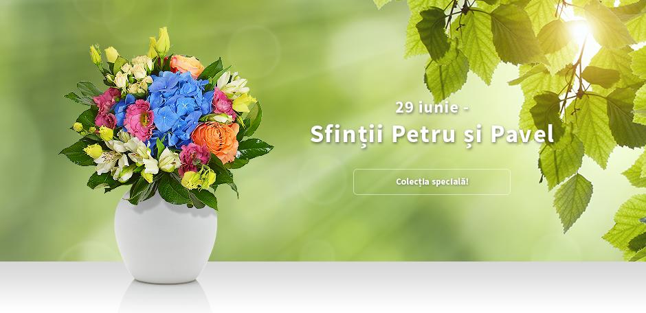 Flori oferite in dar de Sfintii Petru si Pavel