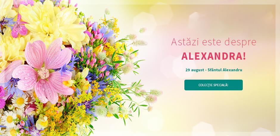 5 buchete de flori cu ocazia Sf. Alexandru